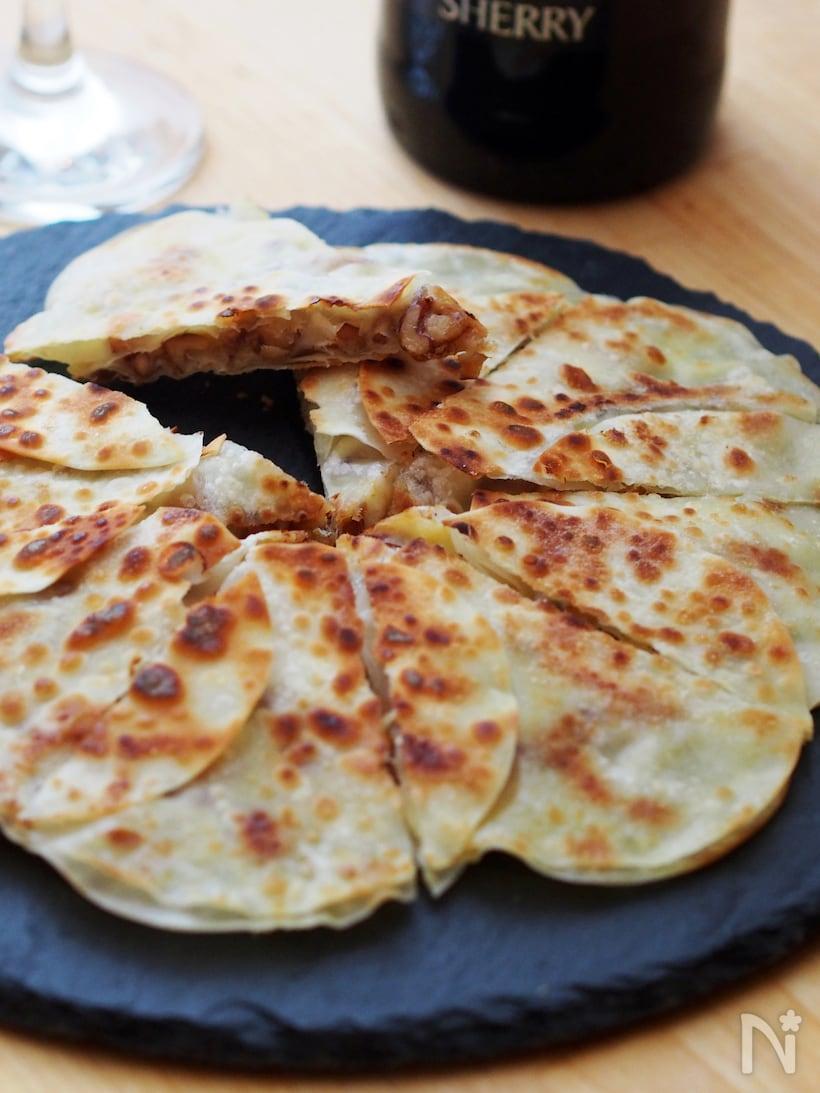 チーズ、クルミ、白味噌の餃子