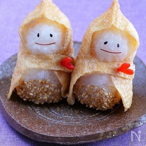 可愛い稲荷寿司「雪ん子いなり」