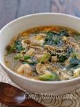 具沢山!*鶏とほうれん草としめじの食べる春雨スープ*