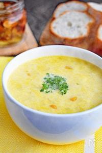 【ぽかぽか温かい】卵とコーンのクリームスープ