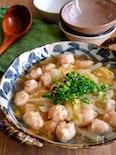 はんぺん入り鶏団子と白菜のとろーり春雨煮