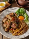 【大葉香る】蓮根豚つくねの生姜焼き #おかず #お弁当