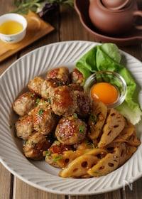 『【大葉香る】蓮根豚つくねの生姜焼き #おかず #お弁当』