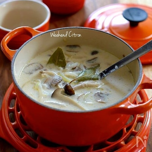 朝食やおもてなしに♪キノコのクリームスープ