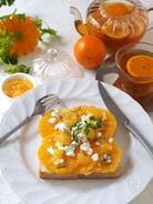 クリチとカッテージチーズの爽やかオレンジトースト