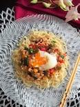 作り置きそぼろでカラフル中華麺