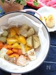 野菜の旨みだけで温野菜(無水調理)