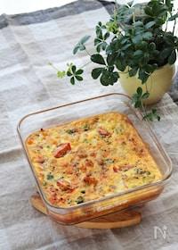 『大豆とカラフル野菜のオムレツ』