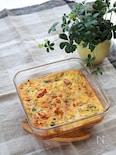 大豆とカラフル野菜のオムレツ