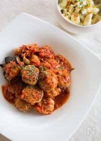 『お豆腐ミートボールと野菜のトマト煮込み』