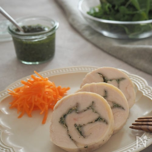 紫蘇ジェノバの鶏ハム