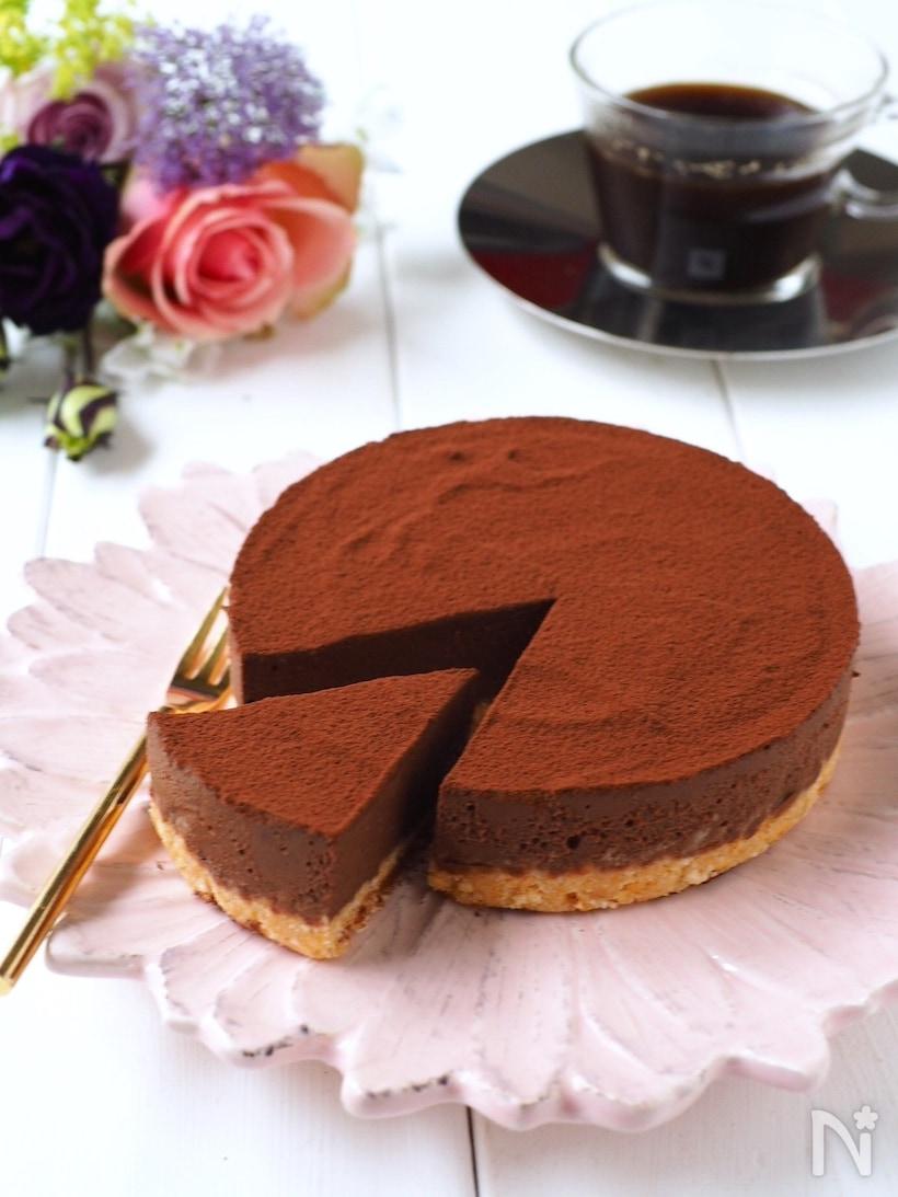 豆腐を使った生チョコケーキ