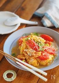 『5分でおかず『トマトととろとろ卵の中華炒め』』