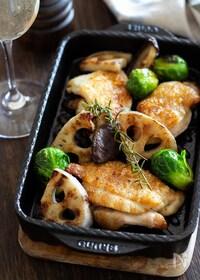 『鶏肉とレンコンのグリル』