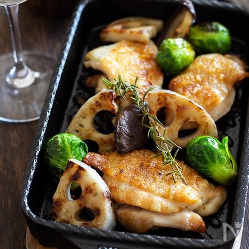 鶏肉とレンコンのグリル