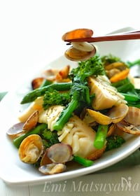 『*春野菜とあさりの蒸し煮*』