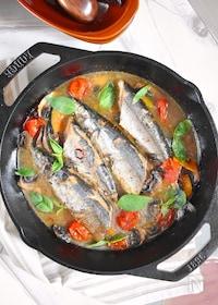 『【魚でご馳走!】秋刀魚の焼きアクアパッツァ』