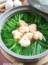 ふわふわ海老団子とニラのヘルシー鍋