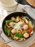 鶏団子とシャキシャキ野菜の具だくさん味噌汁