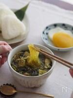 おかずになる簡単万能スープ♪『豚と高菜の春雨スープ』