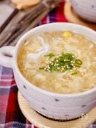 3分で作れる☆『コーンと卵のとろみ中華スープ』