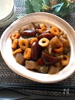 見た目地味だけどめちゃ旨♡椎茸とこんにゃくとちくわの甘辛煮