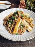 豚コマ肉と厚揚げとごぼうのスタミナ炒め