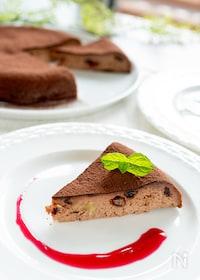 『フライパンで簡単!チョコベイクドチーズケーキ』