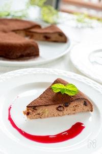 フライパンで簡単!チョコベイクドチーズケーキ