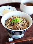 【炊飯器で簡単】栄養満点!ひじきとしらすの炊き込みごはん