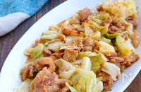 豚こまとキャベツの旨味噌マヨ炒め