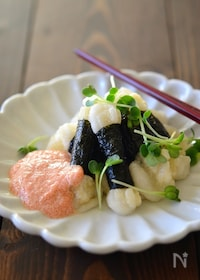 『磯辺餅の明太子醬油ソース 』