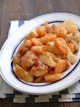 鶏肉とむき海老と長芋の旨マヨ炒め