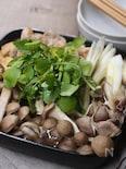 きのこと鶏肉の鍋