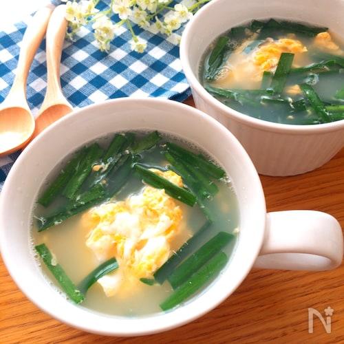 超簡単で美味しい♡にら玉スープ