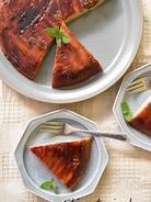 キャラメルバナナのアップサイドダウンケーキ