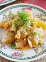【サク飯】揚げ餃子のチリマヨソースがけ