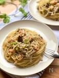 たらことねぎと舞茸のスパゲッティ