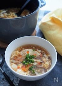 『おなかも満足♡酸辣湯豆腐スープ』