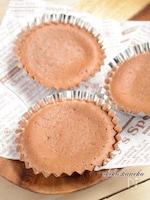 甘酒入りチョコレートカップケーキ