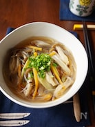 きのこたっぷり中華風春雨スープ