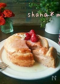 『ふわっふわミルキー♪練乳いちごスフレパンケーキ♪』