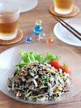 【ヘルシーおかず】白滝とひじきの彩りサラダ