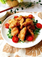 鶏むね唐揚げ❀柚子ぽん▪マヨネーズ