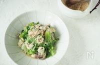 包丁いらずのワンパンレシピ!サバ缶とレタスの炒め物
