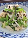 細切り鶏ささみ肉と野菜の塩コンブ炒め