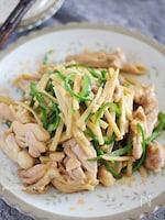 鶏肉で作るチンジャオロース