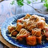 【らくレピ】カリッと鶏肉と絹厚揚げのお好み照り焼き