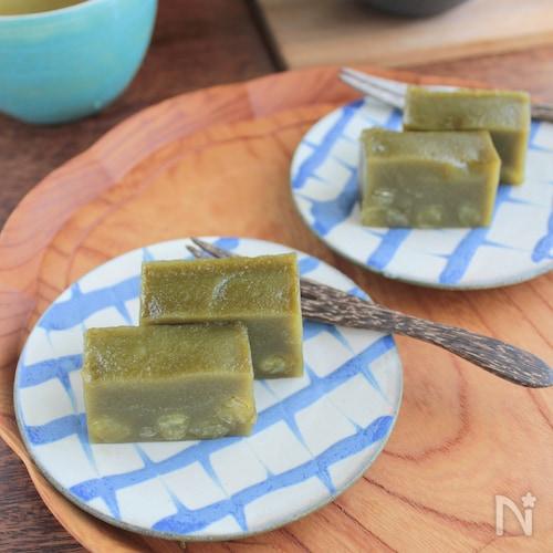 抹茶とうぐいす豆のういろう§簡単スイーツ