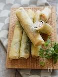 お弁当・おつまみの人気者。サーモンと梅チーズの春巻き